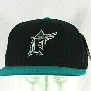 Florida Marlins  Teal/Black Baseball Hat Snapback